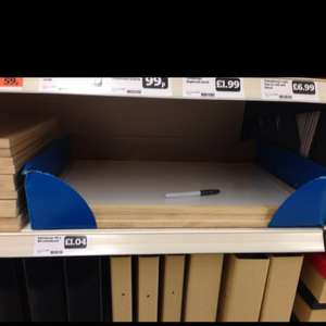 Big white board and pen only £1.04 at Sainsburys instore