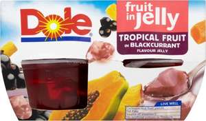 Dole Tropical Fruit In Blackcurrant Jelly (4 x 123g) was £2.43 now (BOGOF) @ Tesco