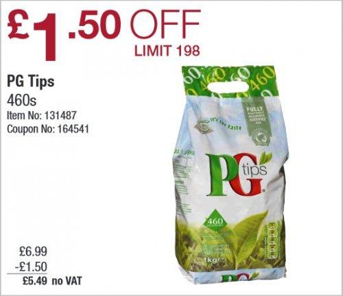 PG Tips 460s (1KG) £5.49 @ Costco