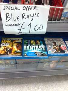 Blu-rays £1 each in pound empire