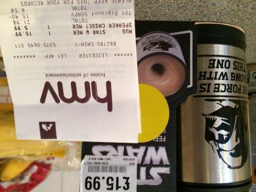 Starwars darthvader self stiring mug £4.79 @ HMV