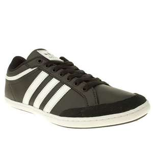 Mens Adidas Black & White Plimcana Low Trainers - Size 9 / Only few left £25 @ branch309