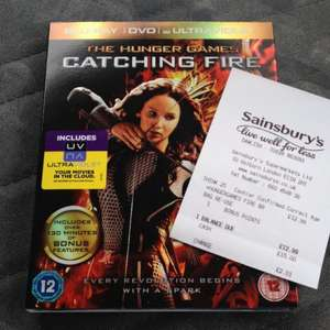 The Hunger Games: Catching Fire Triple Play (Blu-Ray + DVD + Ultraviolet) £12.99 instore @ Sainsbury's