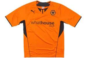 Wolverhampton Wanderers 2013/14 SS Home Football Shirt Old Gold/Black £12 or TWO for £20 @ Wolves.co.uk
