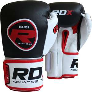 Authentic RDX Leather Pro Fight Boxing Gloves Gel Mold from £32.34 @ Amazon