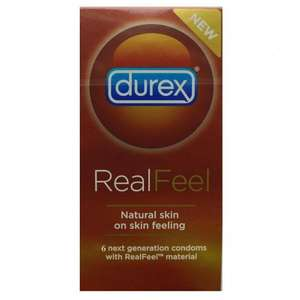 Durex Real Feel condoms skin on skin feeling 6pk only £1.29 @ Home Bargains (over £10 elsewhere)
