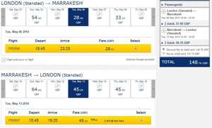 London -> Marrakesh one week, £148.76 cheap return flight for couple by Ryanair