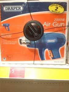 Draper 2000w Hot Air Gun Was £21 Now £5 Instore @ Wilkinsons