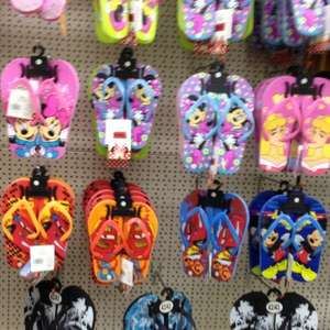 Disney Cars, Mickey Mouse & Minnie Mouse Flip Flops £1 @ Poundworld