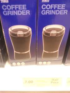 Tesco coffee grinder - £7 down from £14.50 in store (poss national?)