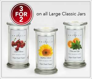 Three for Two on Large Classic Kringle Candle Jars £39.98