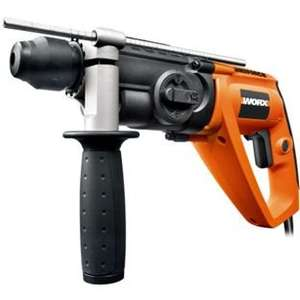 Worx WX338 650W SDS Rotary Hammer Drill £56.44 delivered with 3 SDS drill bits and 1 chisel - Homebase (eBay) - 3YR warranty