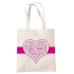 Free Personalised Typography Bag (worth £9 pay only £2.95 p&p using code) Ideal for Mother's Day @ YOURDESIGN.CO.UK