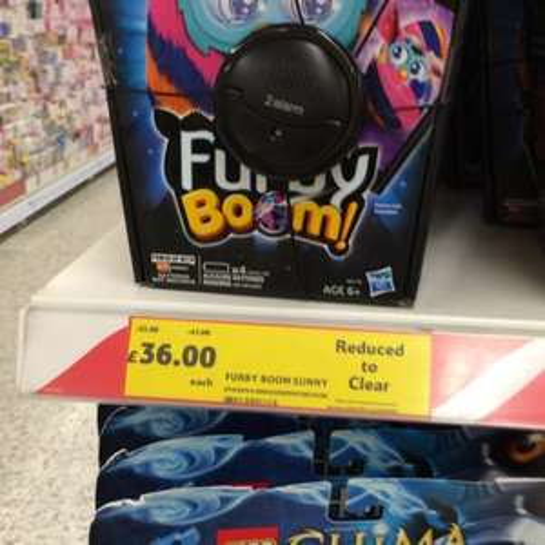 Furby Boom Sunny £36 Tesco Instore