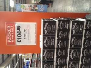 Jack Daniels on offer at Bookers - £104.99