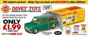 Dinky Morris Mini Traveller Plus Key Ring and Certificate - £1.99 at Atlas Editions