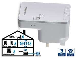 Wireless Wi-Fi extender - £19.99 Aldi this Thursday