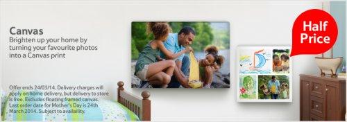 v large canvas half price 150x100 £49.75 @ Tesco Photo
