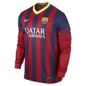 Long sleeve Barcelona Home Shirt 2013-2014 only 24.50! (3.99 del or free if order over 100) @ jjbsports