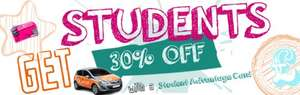 30% student discount on BSM driving lessons