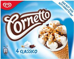 Walls Cornetto (90ML x 4) 99p (Half Price) @ Morrisons