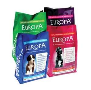 3 free samples of Europa dog food