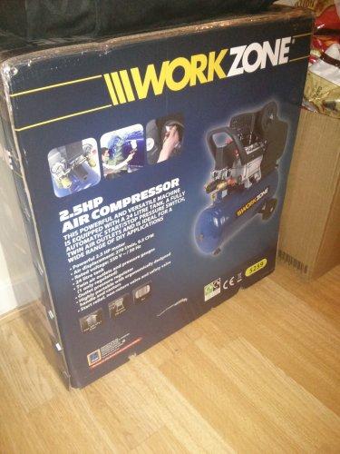 Workzone 2.5hp air compressor £89.99 @ ALDI