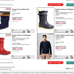 Hunter sale next - men's Davison wellies £18 and socks only £8 @ Next
