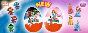 kinder eggs with guaranteed marvel or disney toy 49p each @ aldi