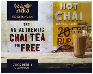 Tea India UK - Nine Free Tea Samples & 50p Off Next Purchase! :) (INFO IS IN FIRST POST!)