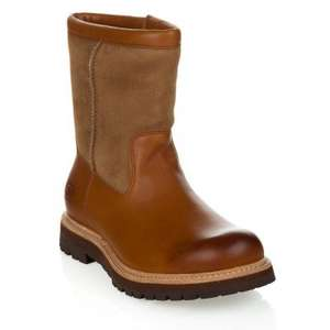 UGG AUSTRALIA POLSON LEATHER AND SHEEPSKIN BOOT IN CHESTNUT size 6 only - £88 @ Zee & Co