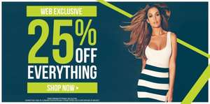 25% off EVERYTHING @ Jane Norman (Includes 50% sale and Outlet too!)