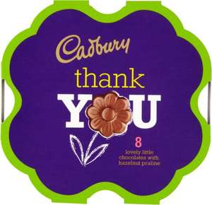 Cadbury Thank You Chocolates £1 at Tesco, Sainsburys and Asda (25p profit after cashback)