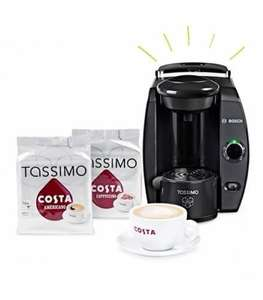 Costa Tassimo Bundle (T4 Machine, Costa cup and saucer, 2 x T DISC packs) £45.00 @ Tassimo