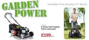 FLORABEST 4-Stroke Self-Propelled Petrol Lawnmower £199 LIDL - 3 Year Warranty - Monday 31st March - Includes mulching attachment, 5L petrol canister, spare spark plug and spark plug spanner