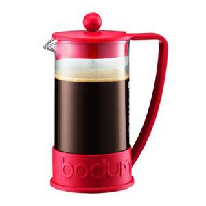 Bodum Brazil French Press 8-Cup Coffee Maker, 1 L/34 oz - red or black - reduced further to £7.99 @ Amazon (free delivery £10 spend/Prime/Locker)