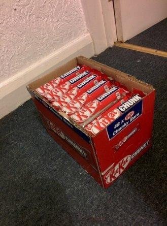 Nestle Kit Kat Chunky Chocolate Bar 48 g (Box of 48) £12 at amazon