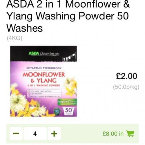 Asda washing powder £2 for 50 washes