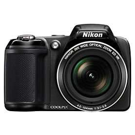 Sainsburys - Nikon Coolpix L320 16 Megapixel 26x Zoom Black Digital Camera £74.99