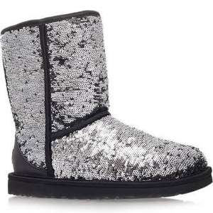 WAS £165 NOW £66 UGG Australia - Classic Short Multi Sparkles Boot - Black @ choicestore
