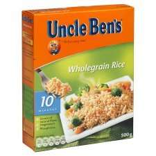 Uncle Ben's Long Grain Rice 500G & Uncle Bens Wholegrain Rice 500G - better than half price - from £2.09 to £1 @ Tesco
