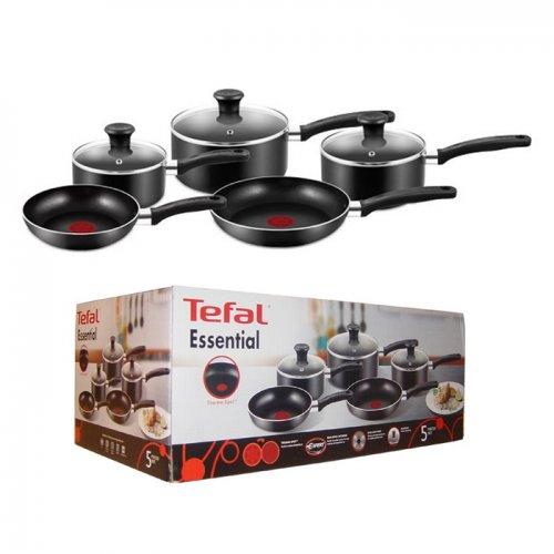 Tefal Essential Five-Piece Saucepan Set - £30.00 + £5 Delivery @ Beales (£35)