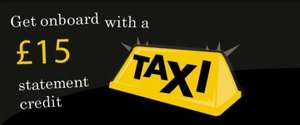 £15 off £20 Hailo cab hire with American Express