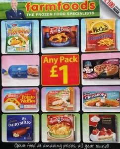 List of £1 deals @ Farmfoods
