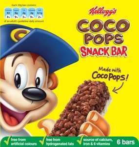 Farmfoods Kellogs Rice krispies/Coco pops cereal bars pk 6 £1 for 2 boxes
