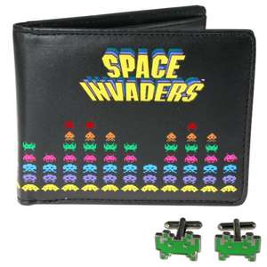 Space Invaders Wallet and Cufflink Set reduced to just £2.99 Instore at Argos Clearance Bargains