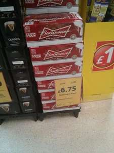 Budweiser crate 10x440ml cans £6.75 @ Tesco