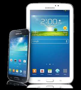 "Virgin Media Existing Customers Only. £22 PM Samsung Galaxy S4 Mini with a free Samsung Galaxy Tab 3 7"" Insurance Included"