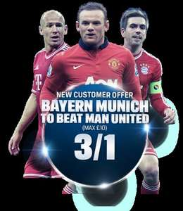 Guaranteed profit when betting on Manchester United vs Bayern Munich