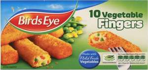 Birds Eye 10 Vegetable Fingers (284g) (Vegetable Filling (74%), was £1.00 now 2 for £1.50 @ Iceland